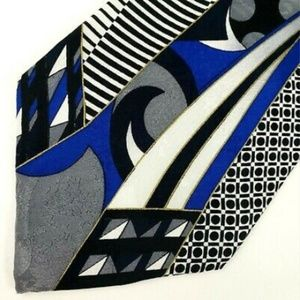 Pacific Grove Men's Neck Tie Blue Abstract